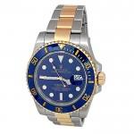 40mm Rolex  Two-Tone Submariner Blue Ceramic Watch 116613.