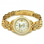 26mm Rolex 18k Yellow Gold Oyster Perpetual Datejust Watch 6917/8