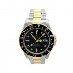 40mm Rolex 18k Yellow Gold and Stainless Steel Oyster Perpetual GMT-Master Watch 16753