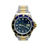 40mm Rolex 18k Yellow Gold and Stainless Steel Oyster Perpetual Submariner Watch 16613