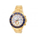 44mm Rolex 18k Yellow Gold Oyster Perpetual Yachtmaster II Watch