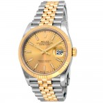 36mm Rolex 18k Yellow Gold and Stainless Steel Oyster Perpetual Datejust Watch