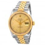 36mm Rolex 18k Gold & Stainless Steel Oyster Perpetual Datejust Watch