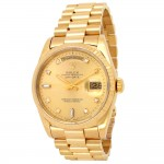 36mm Rolex 18k Yellow Gold Oyster Perpetual Day-Date Watch