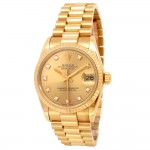 31mm Rolex 18k Yellow Gold Oyster Perpetual Datejust Watch