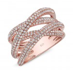 ROSE GOLD TWISTED MULTI BAND INSPIRED FASHION DIAMOND BAND