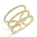 YELLOW GOLD INSPIRED FASHION DIAMOND RING