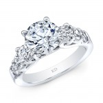 WHITE GOLD PRONG SET DIAMOND BRIDAL RING