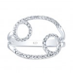 WHITE GOLD INFINITY CIRCLE FASHION DIAMOND RING