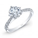 WHITE GOLD CLASSIC PRONG SET BRIDAL RING