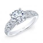 WHITE GOLD PRONG SET DIAMOND BRIDAL RING