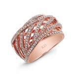 ROSE GOLD CONTEMPORARY CRISS CROSS DIAMOND RING