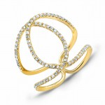 YELLOW GOLD CONTEMPORARY DIAMOND RING