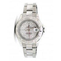 29mm Rolex Stainless Yachtmaster Platinum Dial 16962