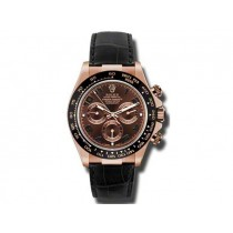 Men's Rolex 18k Rose Gold Daytona  Chocolate 116515.