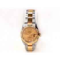 Men's Rolex Two Tone Datejust Champagne Diamond 116233.