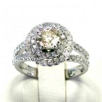Ladies 14k White Gold Engagement Diamond Ring