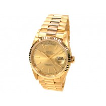 36mm Rolex 18k Yellow Gold  Daydate 18238.
