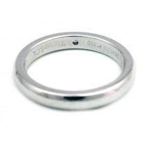 Ladies Tiffany & Co Wedding Band in Platinum with Round Brilliant Diamond
