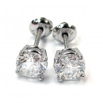 White Gold  Diamond Studs Earrings
