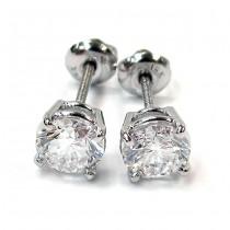 White Gold  Diamond Studs Earrings