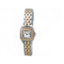 Small Cartier 18k Gold & Stainless Steel Panthere