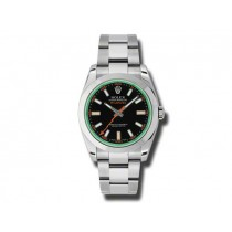 40mm Rolex Stainless Steel Green Milgauss 116400
