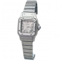 Small Cartier Stainless Steel Santos Anniversary Watch