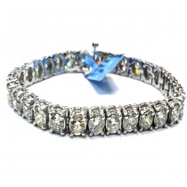 Ladies White Gold Tennis Bracelet with 30 Round Diamonds