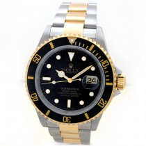 Mens Rolex Two Tone Submariner 16613