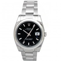 34mm  Rolex  Stainless Date 115200.