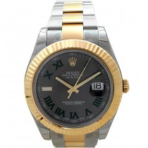 41mm Rolex Two Tone Datejust II Slate Green Dial 116333.