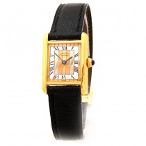 20mm Must de Cartier Tank Vermeil Argent Watch
