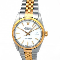 36mm Rolex Two-Tone Datejust White Dial 16013.
