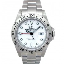 40mm Rolex Steel Explorer II White 16570.