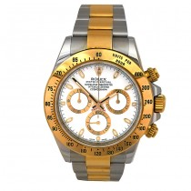 40mm Rolex Two-Tone Daytona White Dial 116523.