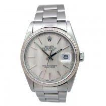 36mm Rolex Stainless Steel Datejust Watch 16234.