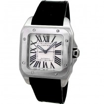 Midsize Cartier Stainless Santos 100  Watch W20106X8