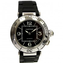 40.5mm Cartier Stainless Pasha Seatimer W31077U2.