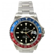 40mm Rolex Stainless  GMT-Master Pepsi 16700.