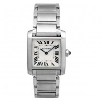 Midsize Cartier Stainless Tank Francaise Watch WSTA0005