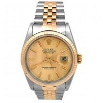 36mm  Rolex Two-Tone Datejust Watch 16233.