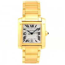 Large Cartier 18k Yellow Gold Tank Francaise W50001R2.