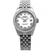 26mm Rolex Stainless Steel Oyster Perpetual Datejust Watch 179160