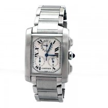 Gents Cartier Stainless Steel Tank Francaise Chrono Watch