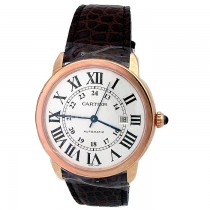 42mm X-Large Cartier 18K Rose Gold Ronde Solo Watch W6701009