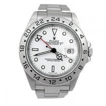 40mm Rolex Stainless Steel Explorer II Watch 16570.