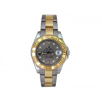 35mm Rolex 18K Gold & Stainless Steel  Yachtmaster Watch 168623.