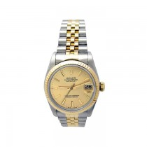 31mm Rolex 18k Yellow Gold and Stainless Steel Oyster Perpetual Datejust Watch 68273