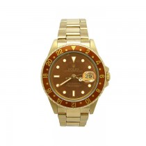 40mm Rolex 18K Yellow Gold GMT-MASTER II Watch 16718